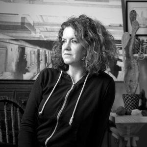 BROOKLYN, NY - JANUARY 18: Artist Anne Muntges on January 18, 2020 in Brooklyn, New York. © Ann Hermes 2020